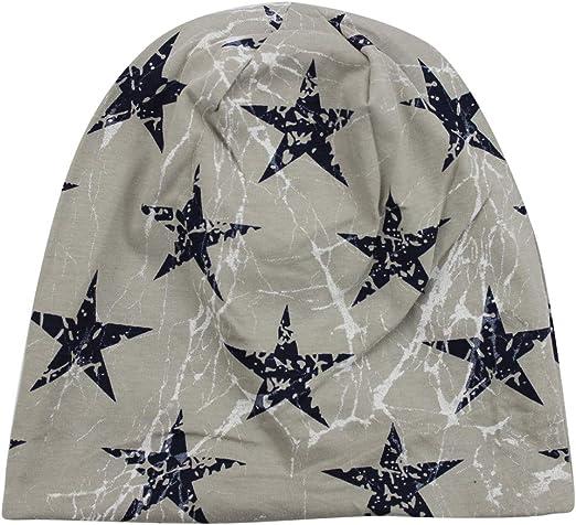 eYourlife2012 Mens Double Layers Lightning Stars Print Hip Hop Slouchy Skull Beanie Caps Hats