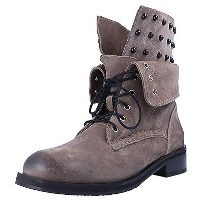 463c1b1e0e421f BABOOS 01.10 131 Damen Boots Taupe Übergrößen  Amazon.de  Schuhe ...