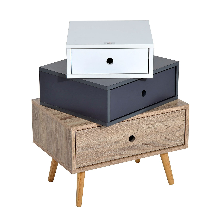 HOMCOM Modern Multi-Drawers Cabinet Side Table Bedroom Storage Organizer (3 Drawers) Sold By MHSTAR