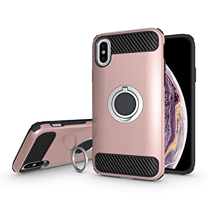 new style 62a0e ee06a Amazon.com: Olixar Apple iPhone Xs Max Ring Case - Finger Loop ...