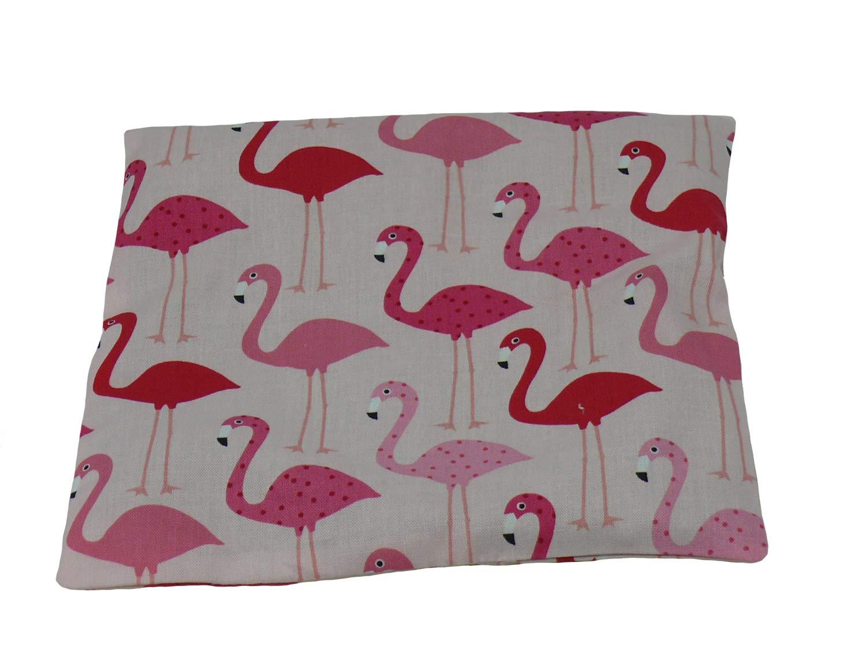 Fitzibiz K/örnerkissen Flamingos aus 100/% Baumwolle 19x19cm Dinkelf/üllung