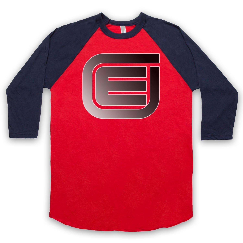 Inspired by Tron Encom E Logo Unofficial 3/4 Sleeve Retro Baseball Tee