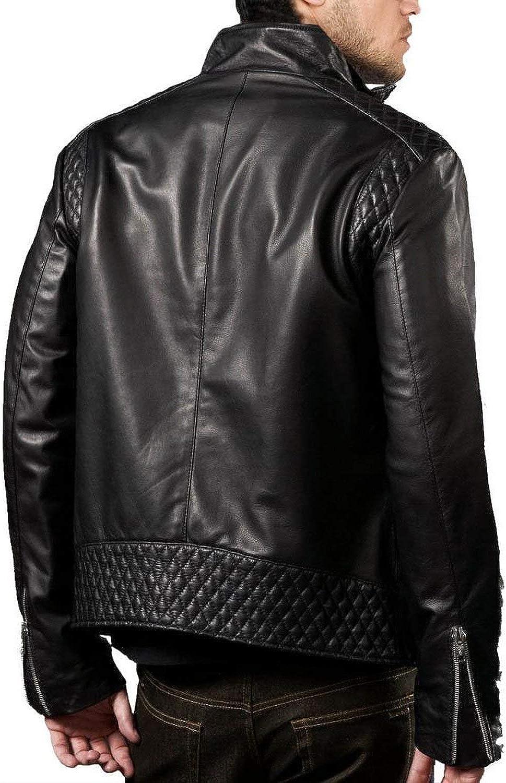 Ayesha Mens Leather Jackets Motorcycle Bomber Biker Genuine Lambskin 138