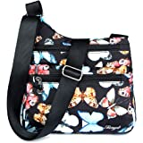 STUOYE Nylon Multi-Pocket Crossbody Purse Bags for Women Travel Shoulder Bag