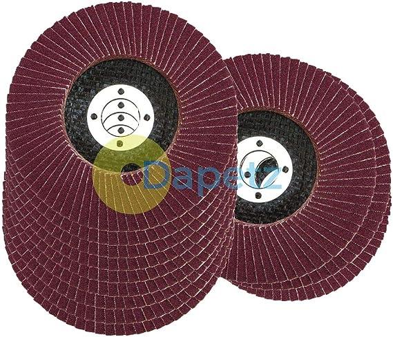 gaixample.org Dapetz  10 x Flap Sanding Discs 115mm 120 Grit ...