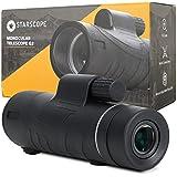 STARSCOPE 12X50 High Definition Monocular - Waterproof Monocular Telescope for Smartphone with Tripod   Handheld Telescope wi