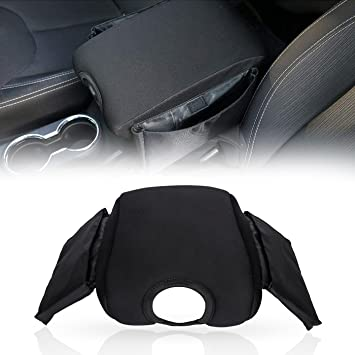 Neoprene Center Console Armrest Pad Cover with Storage Bag For Jeep Wrangler JK JKU Sahara Sport Rubicon x Unlimited 2011-2018