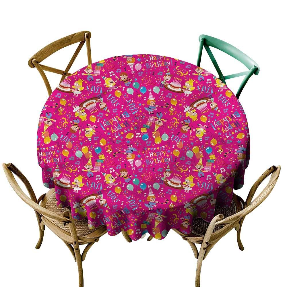 LsWOW 小さな円形テーブルクロス 鳥 冬 雪の結晶 パターン ホリデーなどに最適 54 Inch 54 Inch カラー06 B07Q5F6HH1