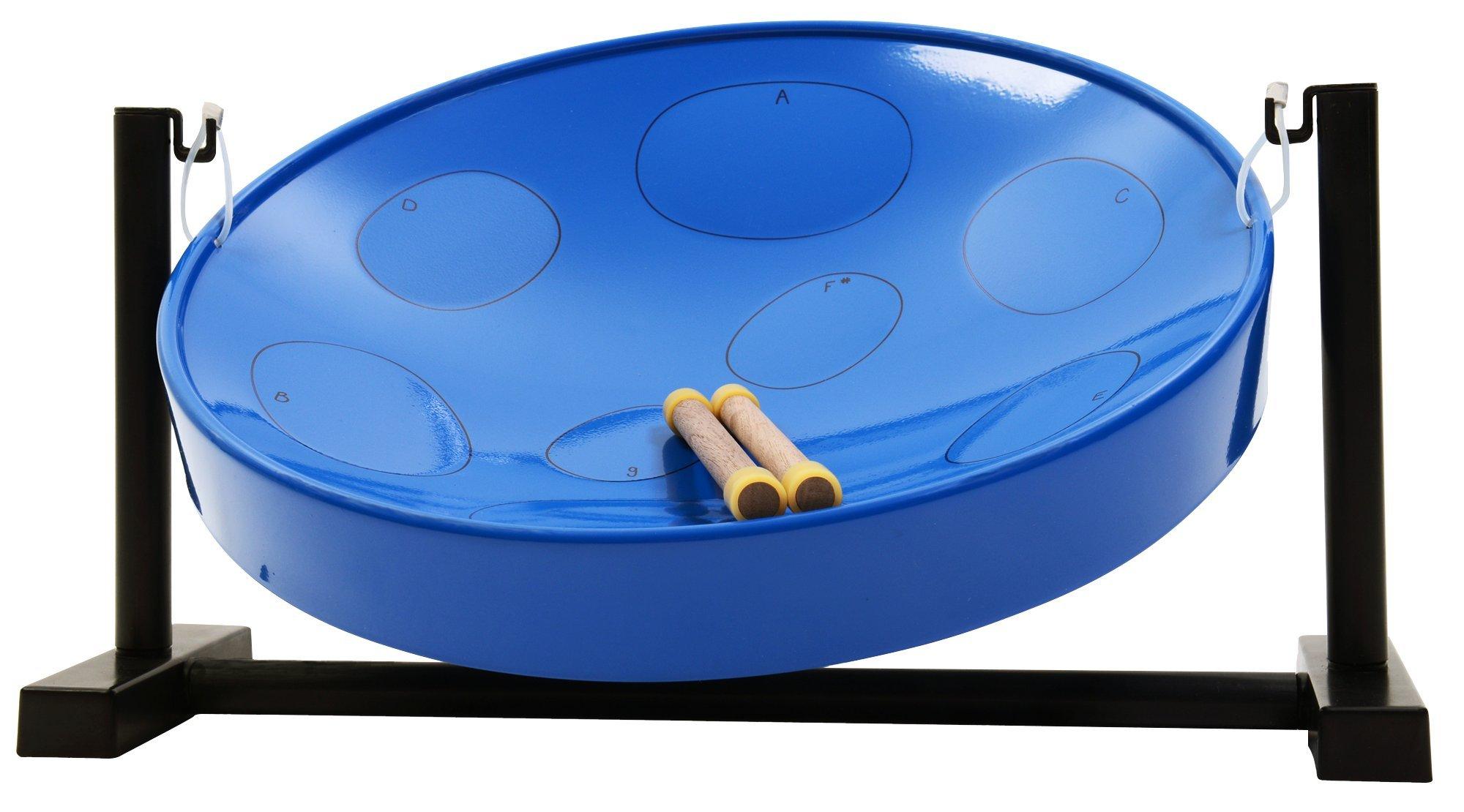 Panyard Jumbie Jam W1206 Steel Drum Table Top Stand Blue F Diatonic