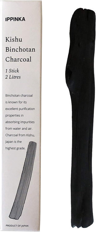Medium Kishu Binchotan Charcoal Water Purifying Stick, Filters up to 2L of Water
