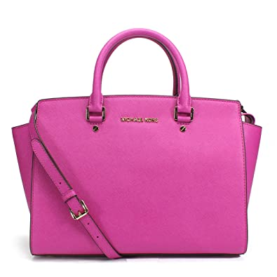 18c439075293 Michael Kors Large Selma Satchel Fuschia: Handbags: Amazon.com