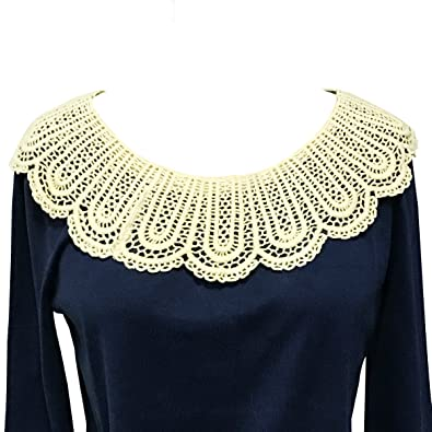Amazoncom Wrapables Crochet Lace Cream Collar Jewelry Necklaces