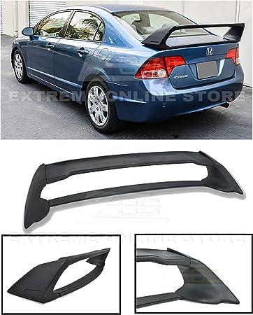Fits 06-11 Honda Civic FD2 Sedan 4-Door JDM MU Black ABS Trunk Spoiler Wing