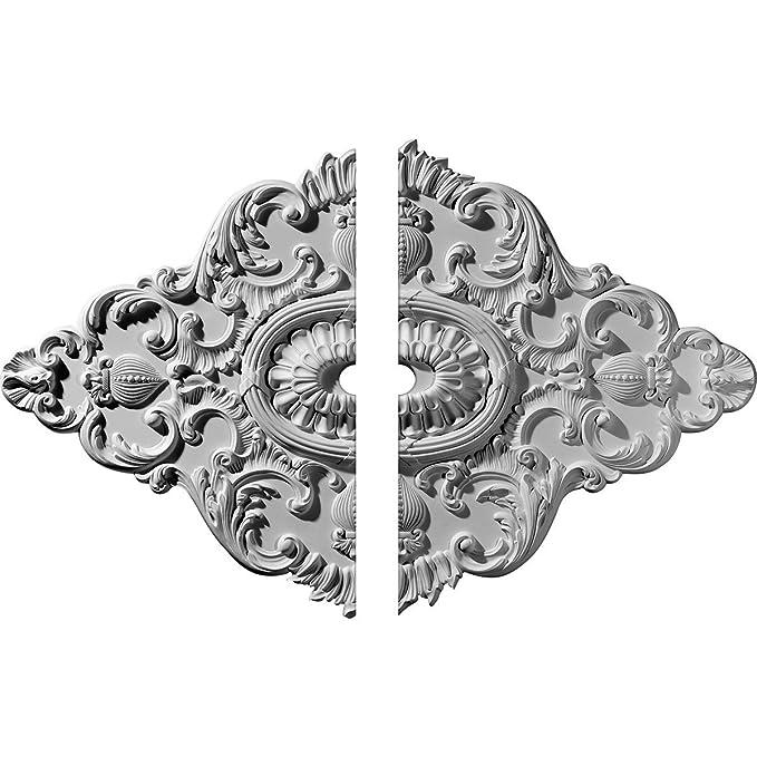 ekena millwork cm42x28as ashford ceiling medallion 42 3//4w x 28 7//8h x 1p facto