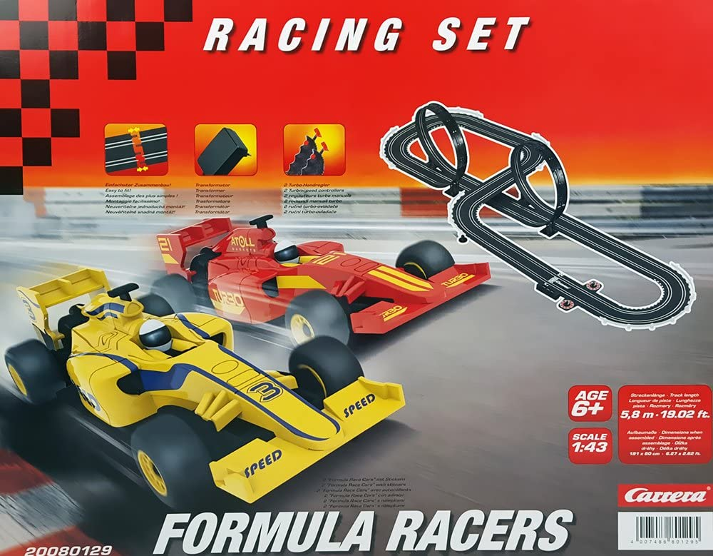 Carrera 20080129 Formula Recers Racing Set Toy Track 1 43 Scale Racing System Spielzeug