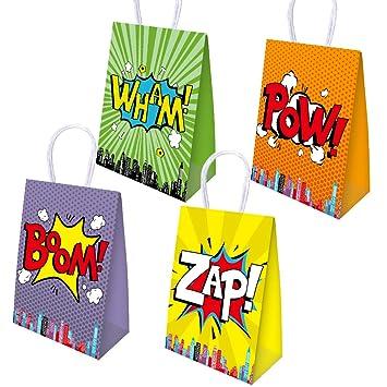 manjing Paquete de 20 Pares de Bolsas de superhéroes para la ...