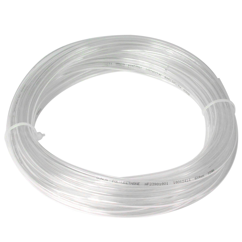 Manguera de compresor de aire de poliuretano - tubo de aire de 6 mm de diámetro exterior 4 mm ID 10 metros de manguera de aire para tubo neumático: ...