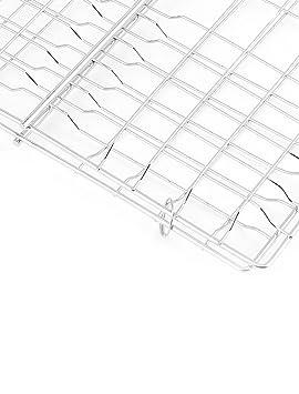 Amazon.com: eDealMax metal acampar al aire libre del patio trasero de cocción flexibles que asa a la barbacoa canasta: Kitchen & Dining