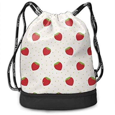 Amazon.com: Strawberry - Mochila con cordón para exteriores ...