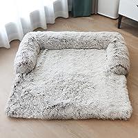 KingMSPG Hondenmat van zacht pluche, comfortabel, hondenkussen, hondenmatras, afneembaar, wasbaar, hondendeken…