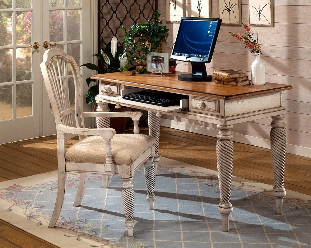 "Amazon.com: Hillsdale Furniture 4508D Wilshire 54"" Wide Desk with 2  Small Drawers Keyboard Tray and Turned Legs in Antique White: Kitchen &  Dining - Amazon.com: Hillsdale Furniture 4508D Wilshire 54"" Wide Desk"