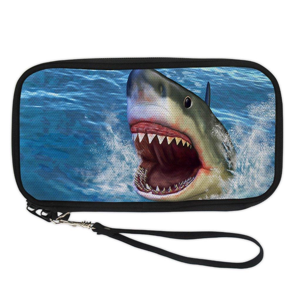 doginthehole Shark Animal Passport Holder Travel Wallet Crossbody Passport Bag