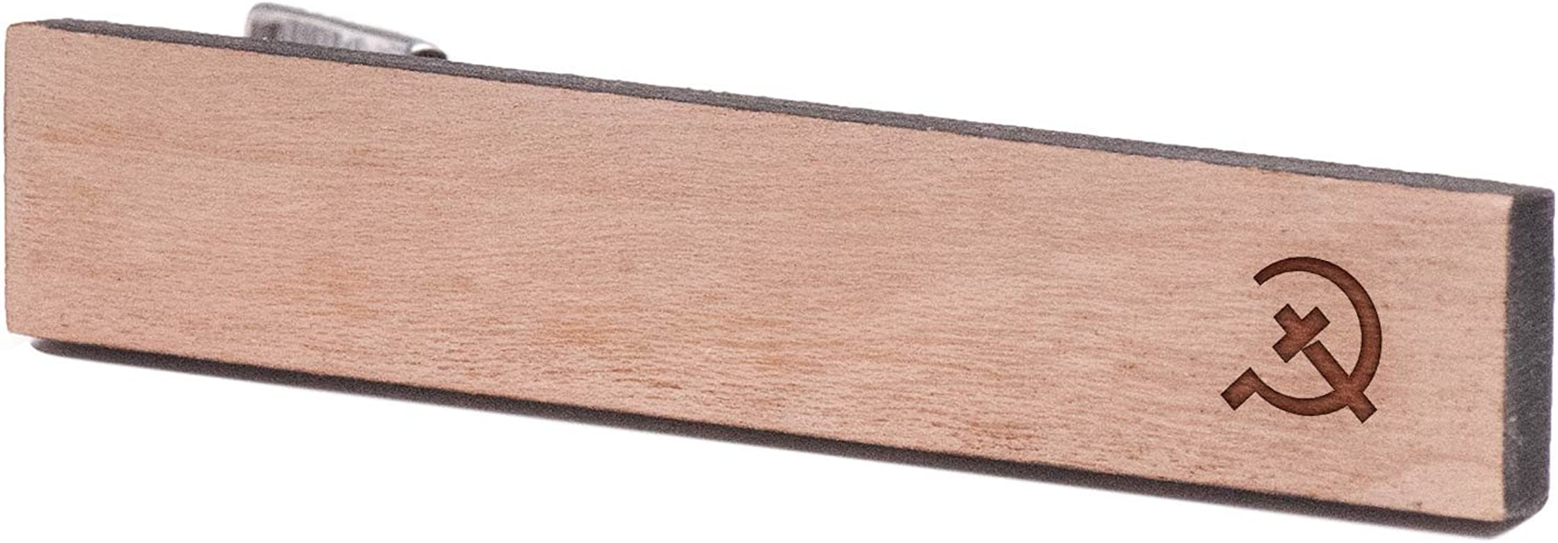 Católica comunismo, madera de corbata Tie Bar: Amazon.es: Joyería