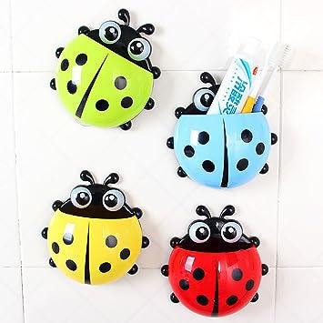Generic dyhp-a10-code-5140-class-1 -- Color: Random der Col organizador Holder throo diseño de bolsillo Cepillo de dientes ybug Wa cosas Ladybug Pared ...