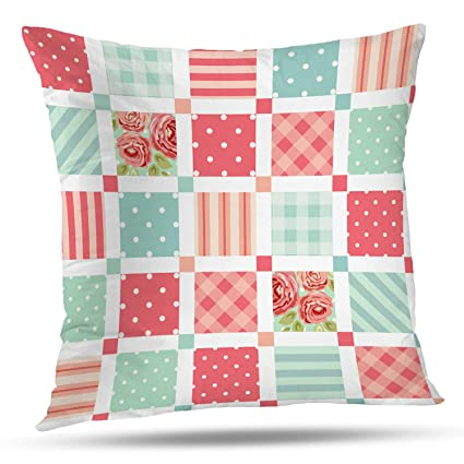 Amazon.com: Batmerry Patchwork Pillow Covers 18x18 Inch ...