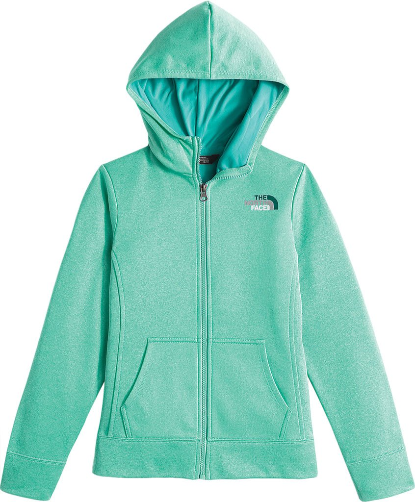 The North Face Surgent Full Zip Hoodie Girls' Ice Green Heather X-Large