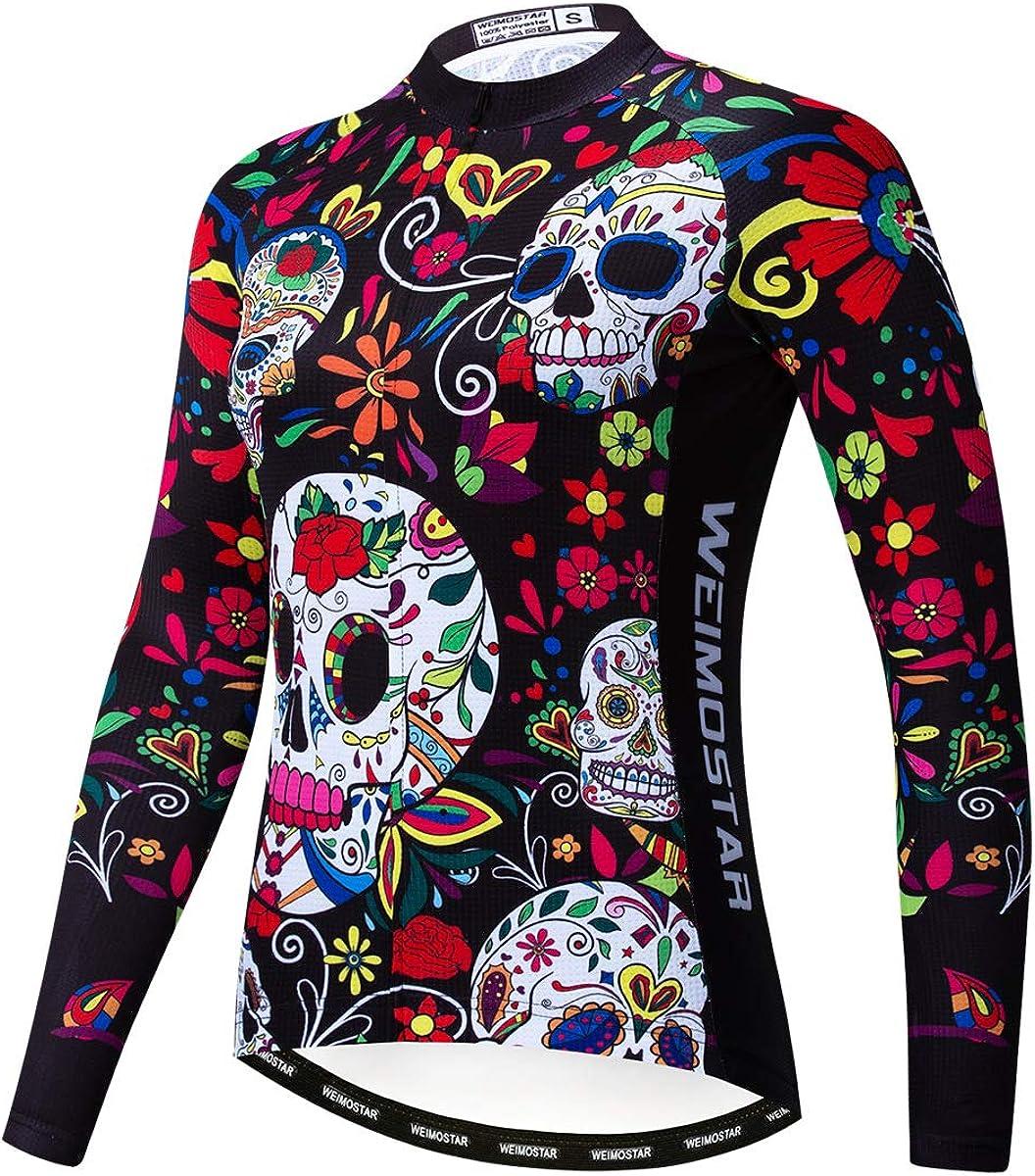 Womens Autumn bike Tops Cycling jersey bicycle long sleeve shirt Sports uniform