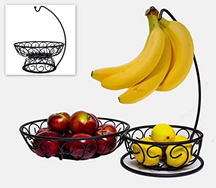 Five Photographs Of Banana In Seach Of >> Amazon Com Zeesline 3 In 1 Fruit Bowl With Banana Hanger 2 Large