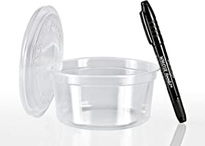 Solo 12oz Deli Container & Lid (50ct) - Grocery Store Style Cups for to-Go Lunch, Food Storage, Take-Out - Bundled with WhoseFood? Pen - Perfect from Refrigerator Directly to The Microwave