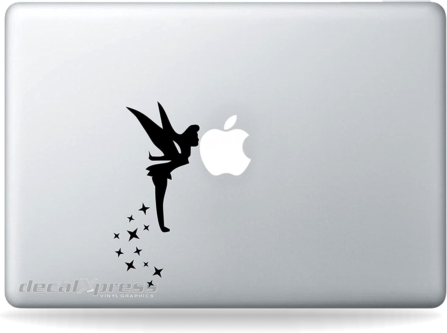 Tinkerbell Fairy Kissing Apple - Sticker Decal MacBook, Air, Pro All Models