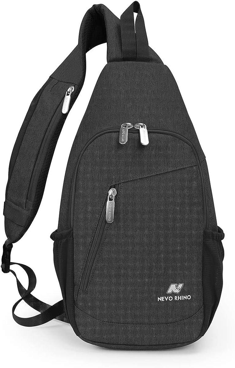 NEVO RHINO Sling Bag Waterproof Large Shoulder Chest Laptop Bagpack Men Women Riding/Running/Travel Hiking Daypack Crossbody