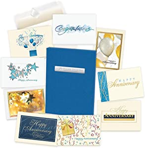 Anniversary Cards Assortment Box (35 Greeting Cards) - with Foil and Embossing (Anniversary 1)