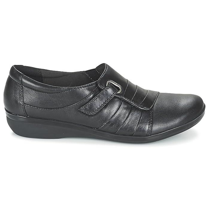 CLARKS Clarks Womens Shoe Everlay Luna Black Leather 3.5 E 2dArXKkvd