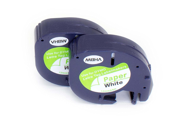 5/x DYMO 18057/Rhino industriale heat-shrink etichetta tubi nero su bianco Papermate Pen Gift /19/mm x 1.5/m autoadesivo/