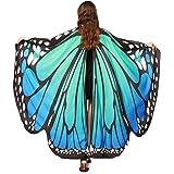 JNCH Chal de Alas de Mariposa Duendecillo para Mujer Capa de Muchacha Accesorio para Disfraz Playa Fiesta