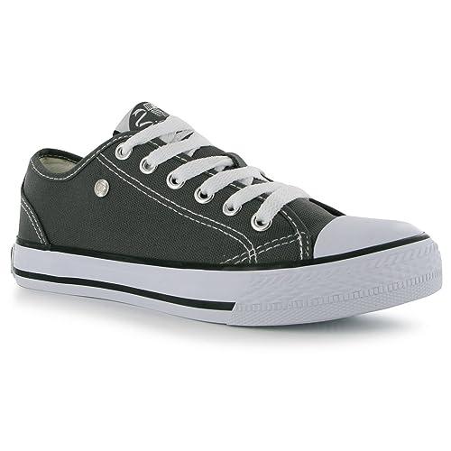 Dunlop - Zapatillas de Lona para mujer, color Gris, talla 38.5