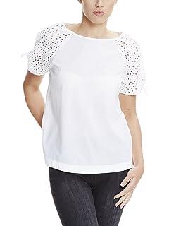 Bench Transparent Stripe tee, Camiseta para Mujer, Blanco (Bright White WH11185), 38 (Talla del Fabricante: S)