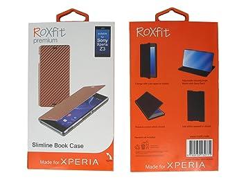 roxfit xz3  RoxFit Slimline Book Case for Sony Xperia Z3 - Bronze: Amazon. ...