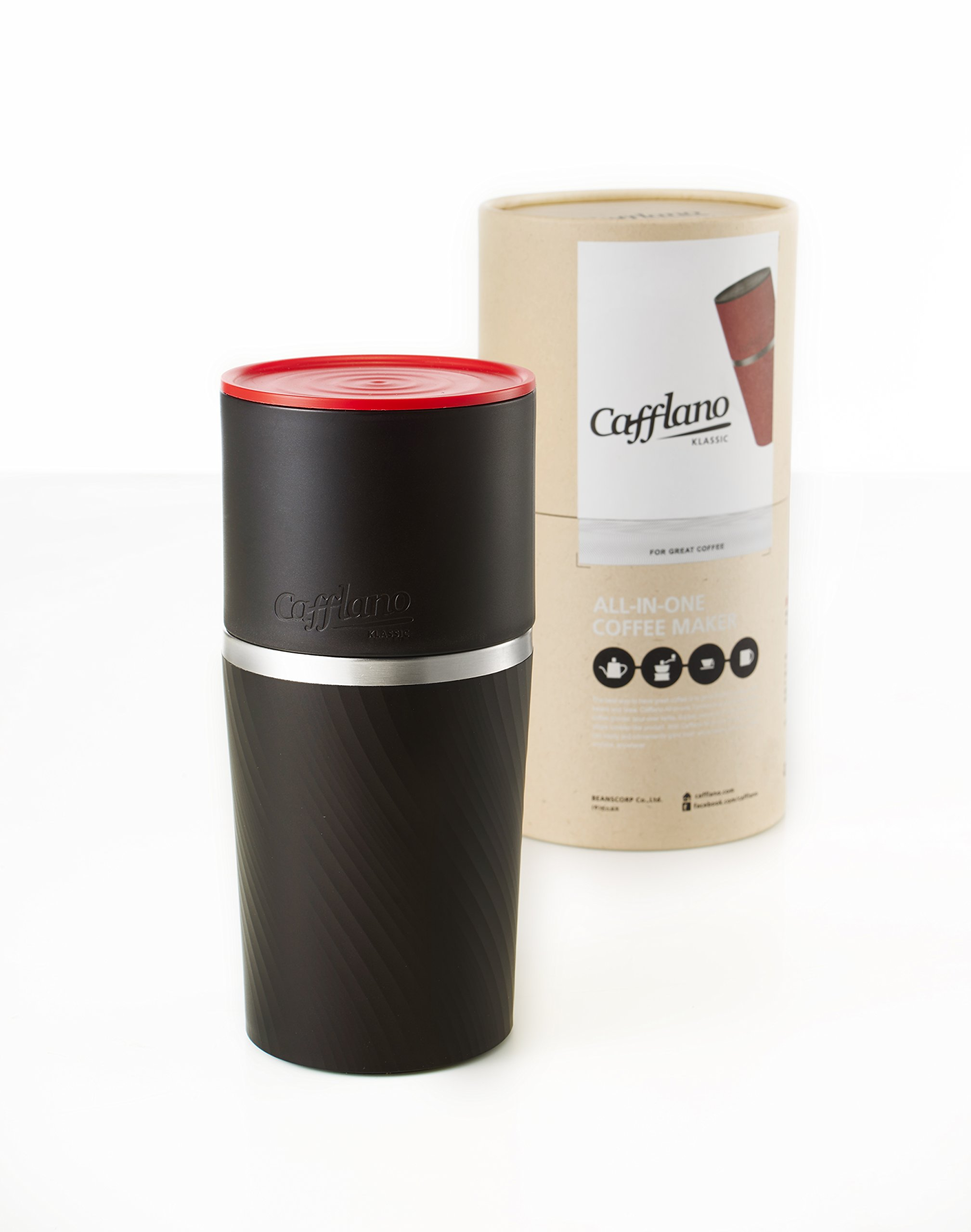 Cafflano World's First Portable All-in-one Coffee Maker Tumbler Hand Mill Grinder Dripper by Cafflano