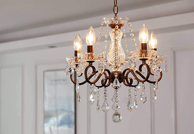 Antique Rose Gold Chandelier Indian Style Interior