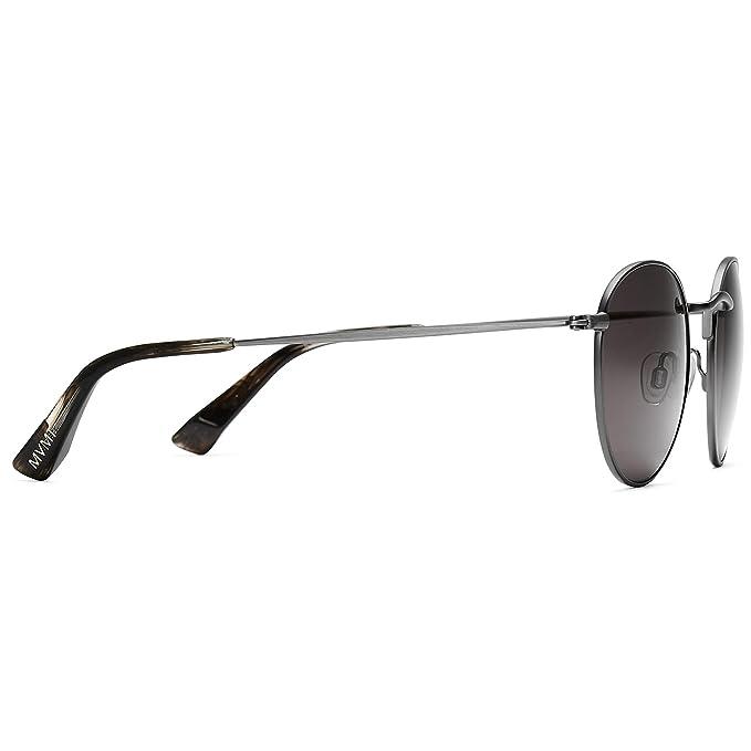 466e78f9e Amazon.com: MVMT Icon | Polarized Round Women's & Men's Sunglasses |  Brushed Gunmetal | 50 mm: Clothing