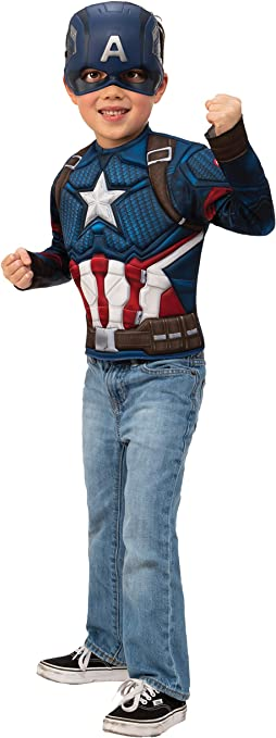 Rubies Disfraz Niño Capitán América Endgame Pecho y Máscara 40074 ...