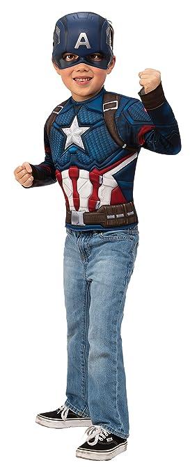 Rubies Disfraz Niño Capitán América Endgame Pecho y Máscara ...