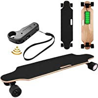 Electric Skateboard Youth Electric Longboard with Wireless Remote Control, 12 MPH Top Speed, 10 Miles Range, 7 Layers…