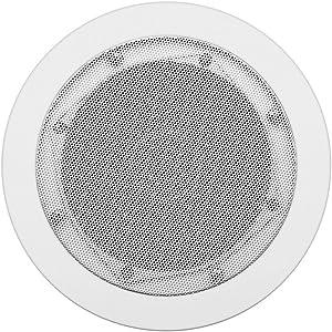 """Steamist 5-1/4"""" Round Waterproof Speakers, Coaxial, White, 100 Watt, 8 Ohm Each"""