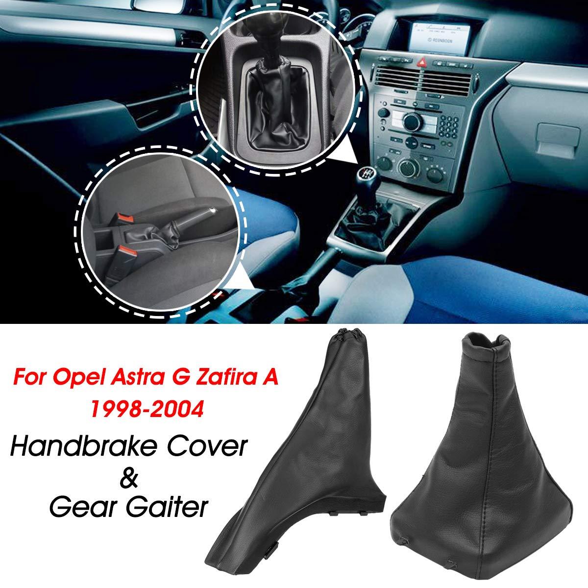 dDanke par de Fundas para Palanca de Cambios y Freno de Mano para Opel Astra G Zafira A 1998-2004